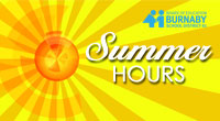 Please note that during the summer, the District office is open 8 am to 3:30 pm. Regular office hours will resume on Monday, August 29 (8:30 am to 4:30 pm).